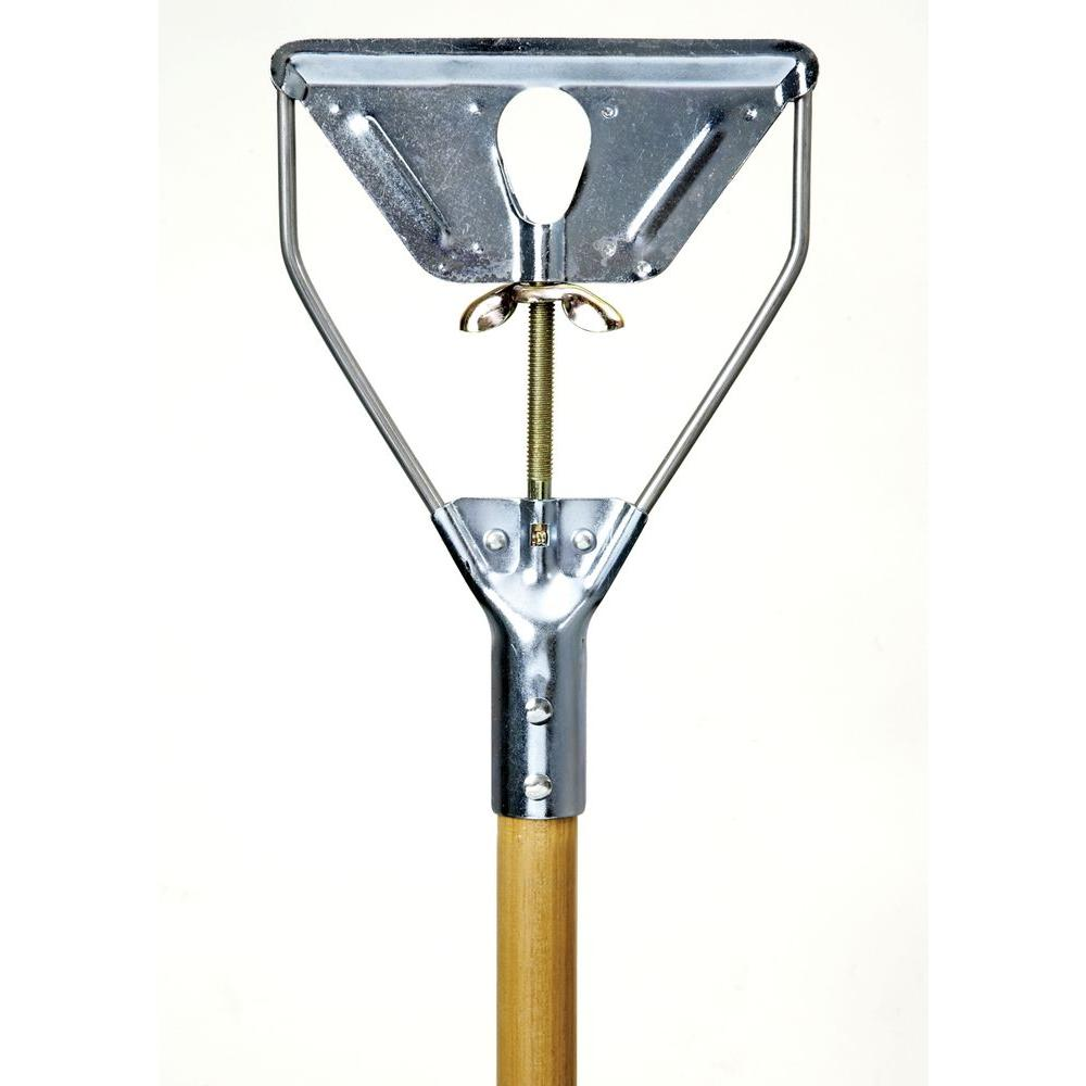 Wood Mop Handle With Metal Stirrup Quick Change Product Details Evolve Pro Solutions
