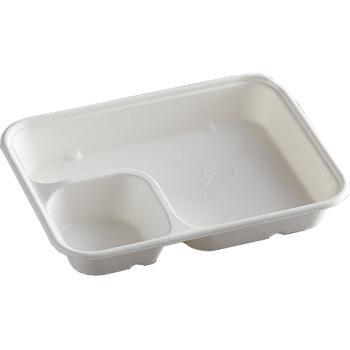 2-Compartment Bagasse Nacho Tray