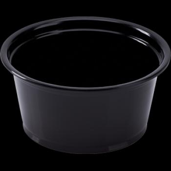 2oz Black Portion Souffle Cup