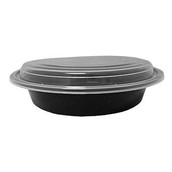 32 Oz. Soup Bowl Black With Lid