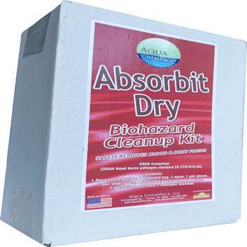 Aqua ChemPacs AbsorbitDry Bio Cleanup Kit