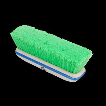 "Green Flagged Nylon Vehicle Brush 10"""