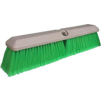 "14"" Green Flagged Nylon Vehicle Brush"