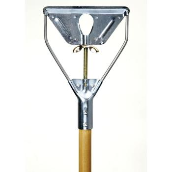 Wood Mop Handle With Metal Stirrup Quick Change