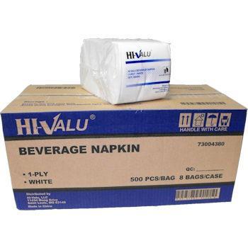 White Beverage Napkins