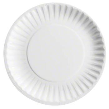 """9"""" Uncoated White Paper Plates"""