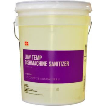 Swisher Yellow Low Temperature Dishmachine Sanitizer 5Gallon