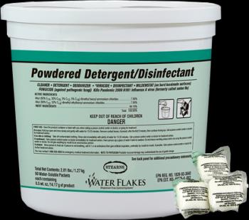 Stearns Powdered Detergent And Disinfectant Cleaner WaterFlakes