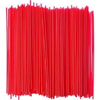 "5.25"" Red Unwrapped Stirrer Straw"