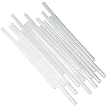 "7.75"" Clear Unwrapped Jumbo Straw"